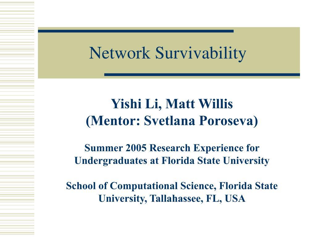 network survivability l.