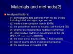 materials and methods 2