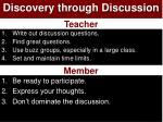 discovery through discussion
