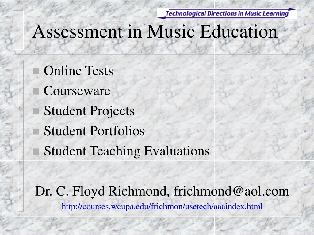 assessment in music education l.