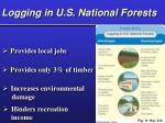logging in u s national forests