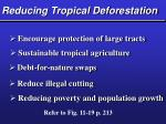 reducing tropical deforestation