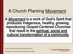 a church planting movement
