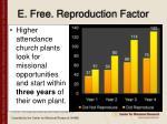 e free reproduction factor