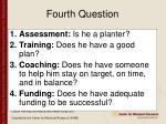 fourth question