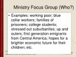 ministry focus group who94