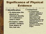 significance of physical evidence