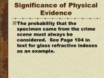 significance of physical evidence4