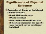 significance of physical evidence6