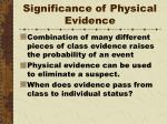 significance of physical evidence7