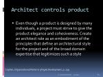 architect controls product