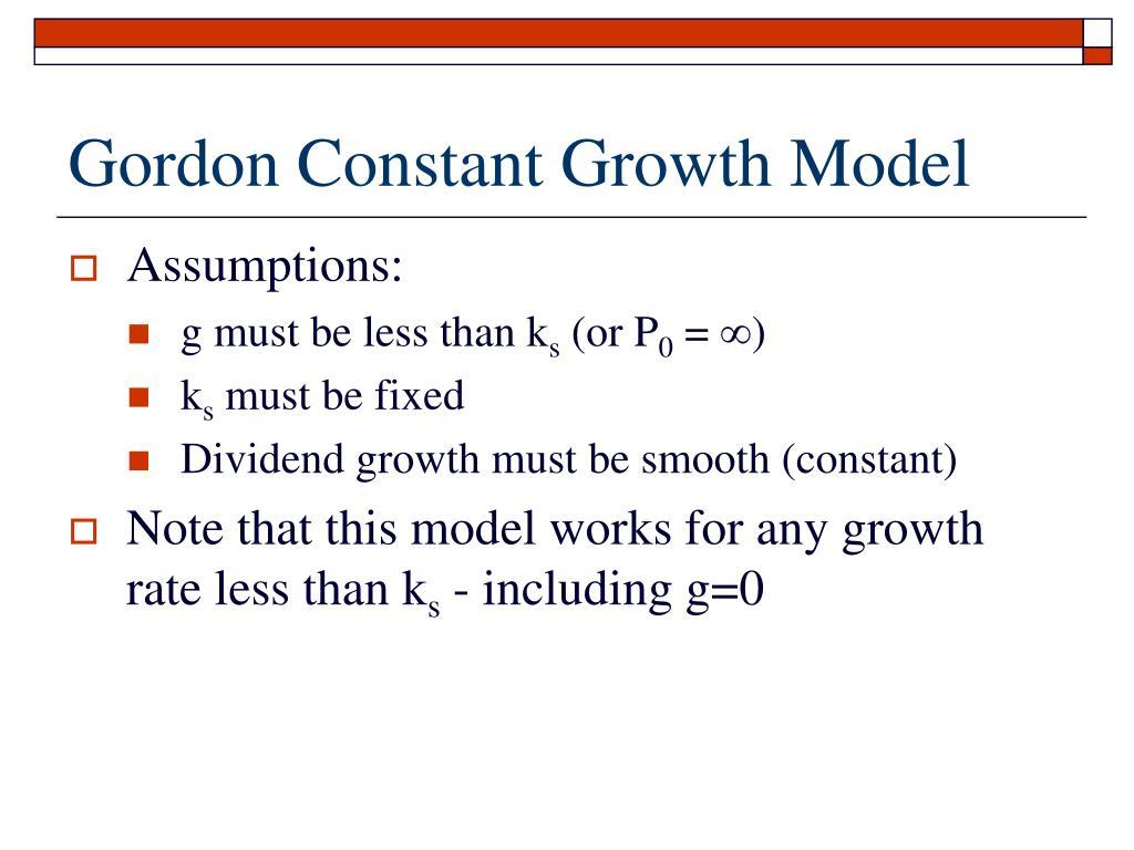 Gordon Constant Growth Model
