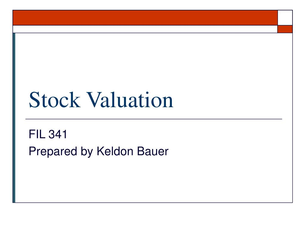 stock valuation l.