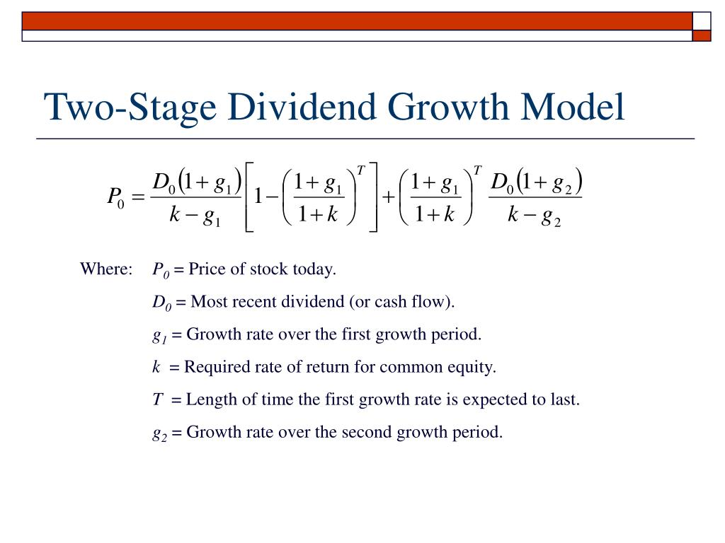 Two-Stage Dividend Growth Model