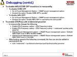 debugging contd