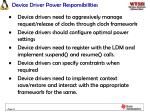device driver power responsibilities
