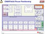 omap3430 power partitioning