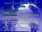 basic components for the needle8