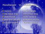 monofilament vs multifilament