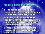 needle holder selection15