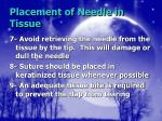 placement of needle in tissue18