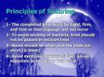 principles of suturing