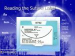reading the suture label