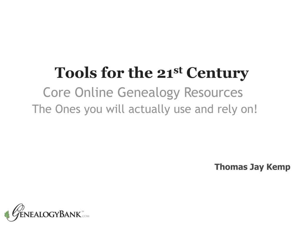 tools for the 21 st century l.