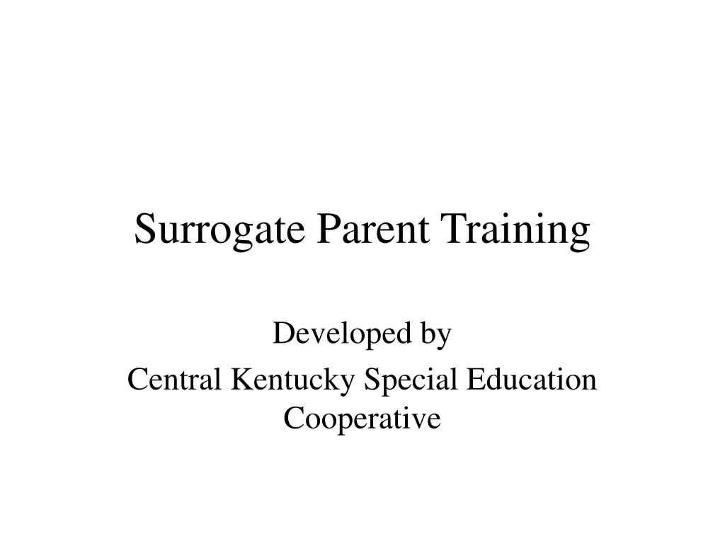 surrogate parent training l.