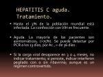 hepatitis c aguda tratamiento