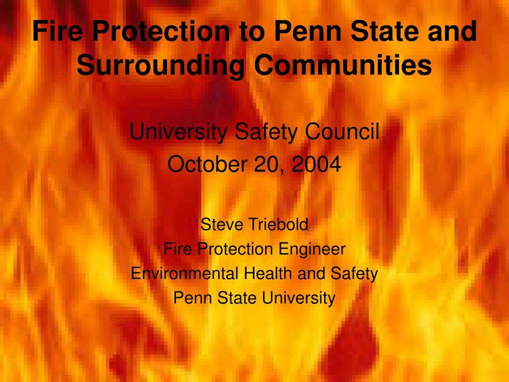 fire protection to penn state and surrounding communities l.