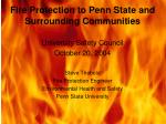fire protection to penn state and surrounding communities