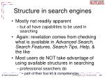 structure in search engines