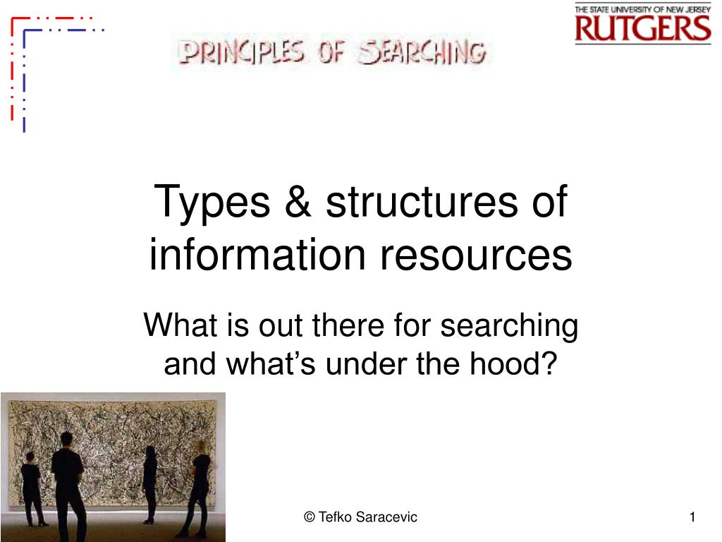 types structures of information resources l.