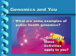 genomics and you15