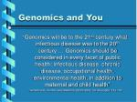 genomics and you20