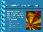 potential interventions14
