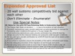 expanded approved list19
