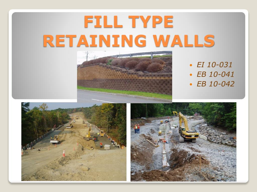 fill type retaining walls l.