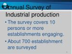 annual survey of industrial production
