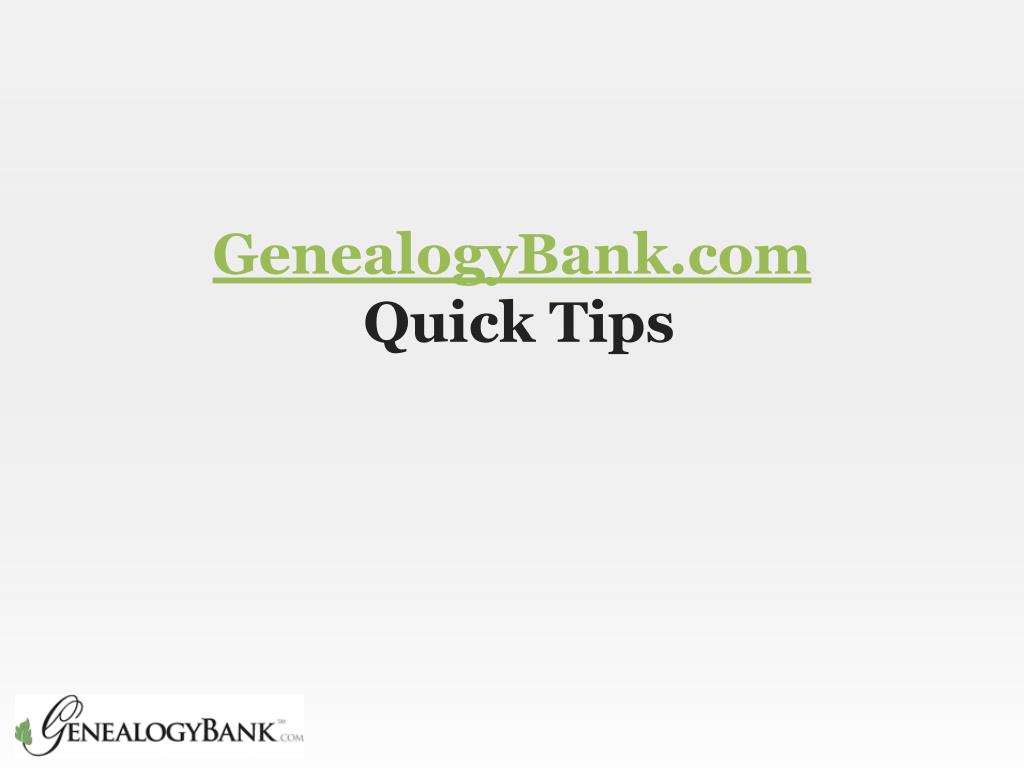 genealogybank com quick tips l.