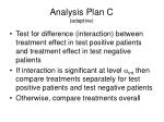 analysis plan c adaptive