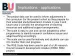 implications applications