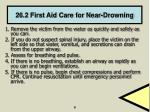 26 2 first aid care for near drowning