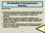 air embolism decompression sickness