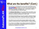 what are the benefits cont
