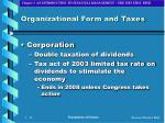 organizational form and taxes