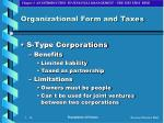organizational form and taxes14