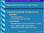 organizational form and taxes15
