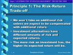 principle 1 the risk return trade off